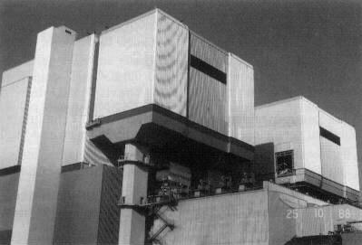 Bild 13: Gesamtansicht - Kesselhaus mit DeNOx-Anbau in fertigem, verkleideten Zustand